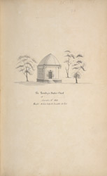 'The tomb of a Bader Chief at [ ] November 18th 1800. Height 18 Feet, body 12, breadth 10 Feet.' WD 794 is a copy.